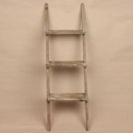 Dřevěný regál 3 patra hnědý 38x120x13cm