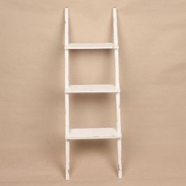 Dřevěný regál 3 patra bílý 38x120x13cm