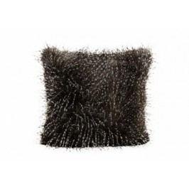 Polštář umělá kožešina šedý 45x45cm
