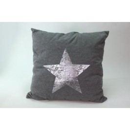 Polštář hvězda šedý 60x60cm