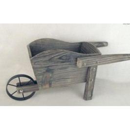Dřevěný trakař hnědý Provedení: A