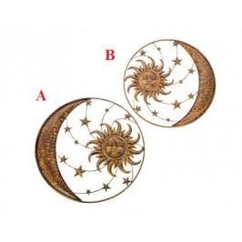Slunce s měsícem kov 75cm Provedení: B