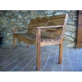 Zahradní lavice palisandr 150x65x90cm