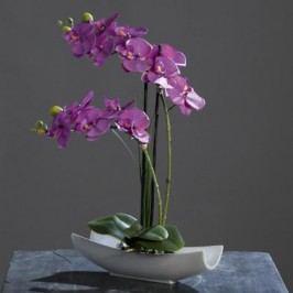 Orchidea v keramické misce fialová 45cm