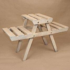 Dřevěný stojan na květiny lavice 60x37x25cm