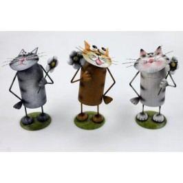 Kočka kov 26cm Barva: šedá