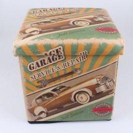 Skládací taburet Garage Service 32×32×32cm