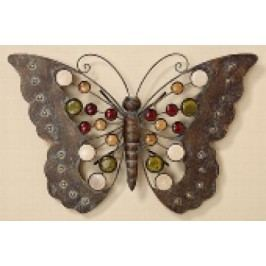 Motýl z lakovaného železa 43cm