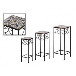 Zahradní stolky mozaika set 3ks Provedení: A