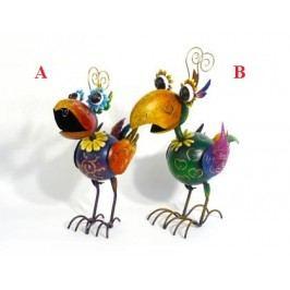 Svícen pták pestrobarevný 50x42x22cm Provedení: B