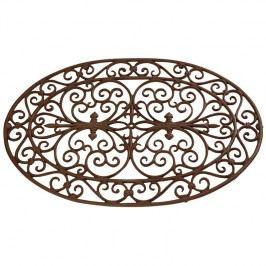 ESSCHERT DESIGN Litinová rohožka s ornamenty oválná 74x48,5x2cm