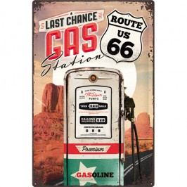 Plechová cedule Route 66 Last Chance Gas Station 40x60 cm Rozměry: 40x60 cm