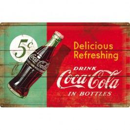 Plechová cedule Coca-Cola Delicious Refreshing 40x60 cm Rozměry: 40x60 cm