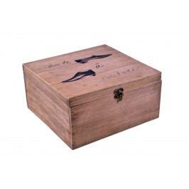Dřevěná krabice s motivem bot Provedení: Pánská