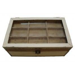 Dřevěná šperkovnice s přihrádkami 45x48x17cm