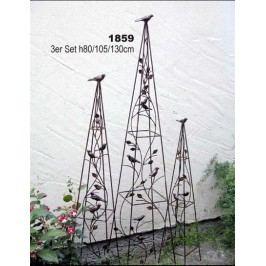 Opěra na kytky set 3ks 80cm 105cm 130cm