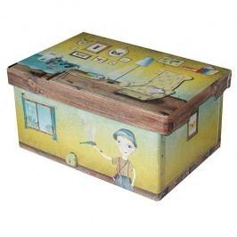 Kazeto Krabice hranatá přírodovědec 48x31x23cm