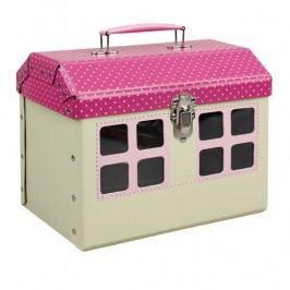 Kazeto Hračka s úložným prostorem růžový domeček 24x20x16cm