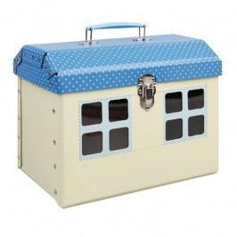 Kazeto Hračka s úložným prostorem modrý domeček 26x20x17cm