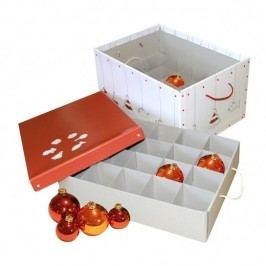 Kazeto Krabice hranatá vánoční bílá 34x26x48cm