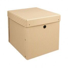 Kazeto Skládané krabice bílý proužek sada 2ks