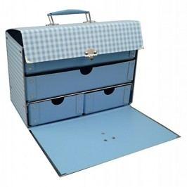Kazeto Rozkládací box se šuplíky modrá kostka 26x16x20cm