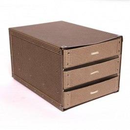 Kazeto Box se třemi zásuvkami látka polibond 25x33,5x20cm