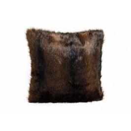 Polštář kožešina hnědý 45x45cm