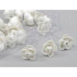 Květ růže glitr 3,5cm set 36ks Barva: stříbrná