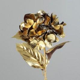 Umělá květina hortenzie 59cm Barva: zlatá