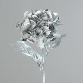 Umělá květina hortenzie 59cm Barva: stříbrná