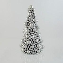 Strom kouličky stříbrný Rozměry: 23x23x42,5cm