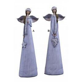 Anděl s šálou 8,5x27x5cm Provedení: A