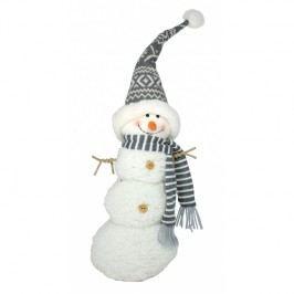 Sněhulák bílo-šedý 20x13x56cm