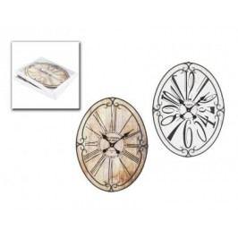 Hodiny Paris kov dřevo 60x45cm Barva: bílá