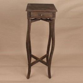 Dřevěný stolek na květiny Barva: hnědá