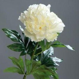 Umělá květina pivoňka 76cm Barva: krémová