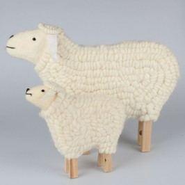 Ovce sada 2ks přírodní bílá