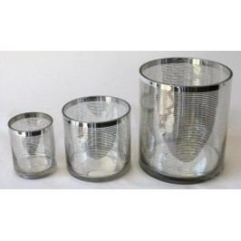 Svícen Rings stříbrný sklo Velikost: velký