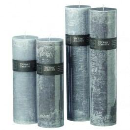 Svíčka šedá velká Barva: světle šedá, Provedení: Menší