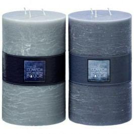 Svíčka šedá střední Barva: světle šedá, Provedení: Větší