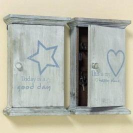 Skříňka na klíče Lucky 30cm S motivem: hvězda