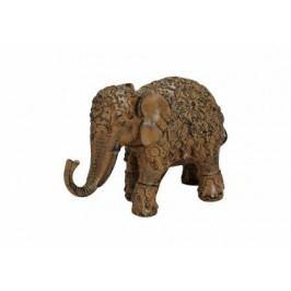 Slon hnědý polyresin 18x7x12cm
