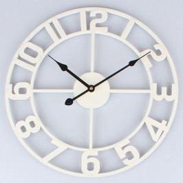Kovové hodiny bílé 40cm