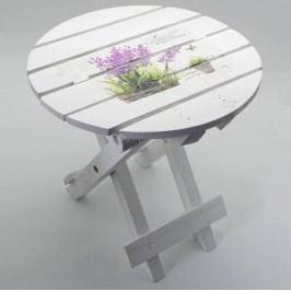 Židlička levandule dřevo 30x30x30cm