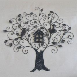 Dekorace na zeď strom s ptáčky