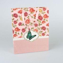 Papírová taška modrý motýl 12ks Velikost: velká