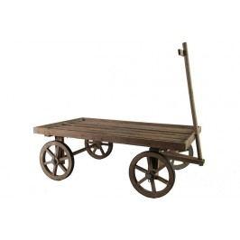 Dřevěný dekorační vozík Velikost: větší