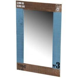 Dřevěné zrcadlo N3 55x2x36cm Barva: modrá