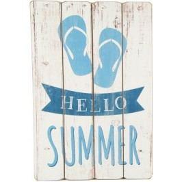 Obraz HELLO SUMMER 60x40cm Barva: bílá